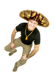 Latin Man with a Sombrero poster