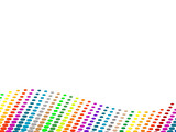 Vector halftone colorful dots background. poster