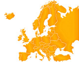 Carte Europe Sable poster