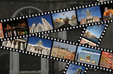 Film strips with travel photos. Dublin, Ireland, Europe. poster