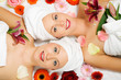 Wellness Frauen und Blumen