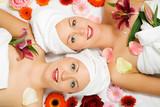 Fototapety Wellness Frauen und Blumen
