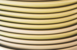Smiling dishes. Close-up stack of yellow dishes. poster