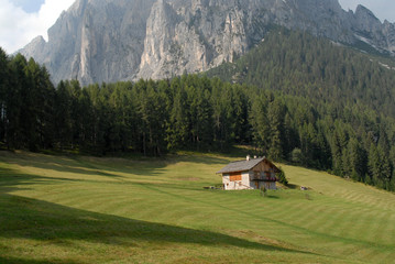 Mountain hut in Dolomites