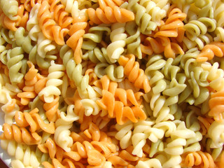 color decorative Italian macaroni