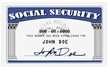 Mock up of a Social Security Card done in photoshop