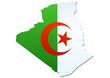 Carte de l'Algérie (drapeau)