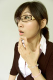 office lady get shocked poster