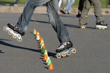 slalom rollers