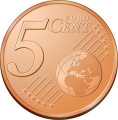 Pièce de 5 cents d'euro