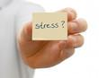 Notizzettel mit Stress
