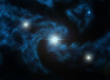 computer generated illustration of Nebulus galaxy. poster