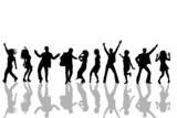 Fototapety tanzende silhouetten - schatten