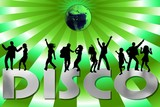 disco night - green poster