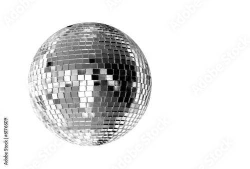 Leinwanddruck Bild big silver disco ball