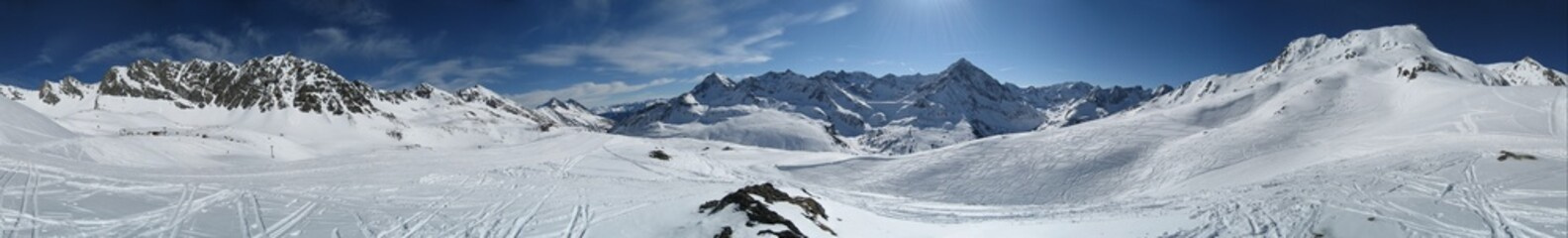 Winterpanorama aus Tirol