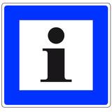Info-Verkehrsschild poster