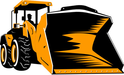 Front loader isolated on white