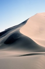 large sand dune, singing dune of Altyn Emel NP