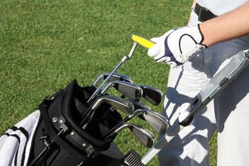 Golftasche, Golfplatz