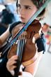 Leinwanddruck Bild - Violin Lesson