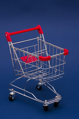 Shopping Cart on a bluebackground