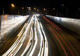 Night jam on the urban highway poster
