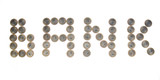 Some coins as word