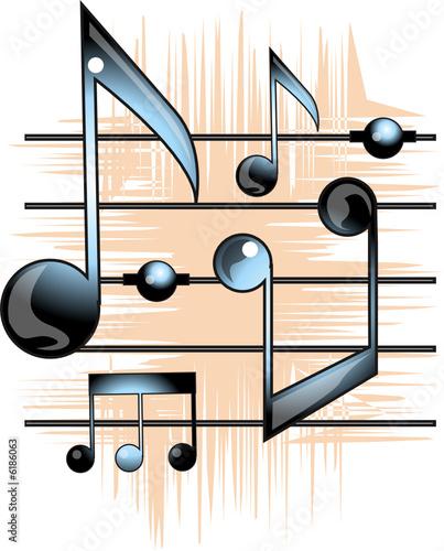 Vector: pentagrama musical