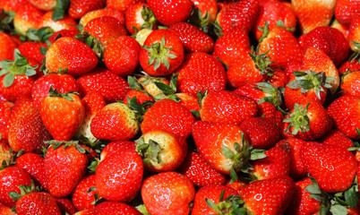 Strawberry background.