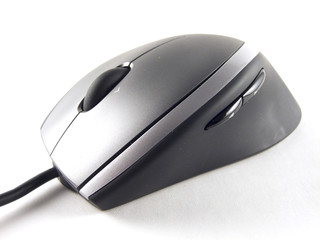 Silver computer mouse