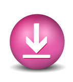 Download Button - pink poster