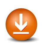 Download Button - orange poster