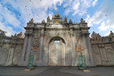 Entrance of Dolmabahce Palace, Istanbul, Turkey poster