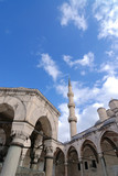 Ottoman architecture, capture from Blue Mosque, Istanbul, Turkey poster