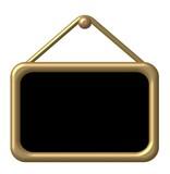 info tafel gold poster