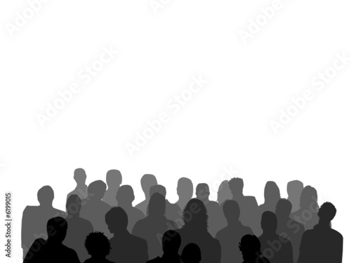Crowd Silhouette hd Quot Crowd Silhouette Grey Scale