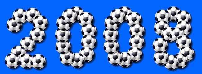 2008 fussbälle blau