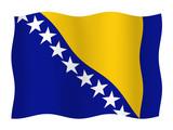 Flag of Bosnia and Herzegovina  poster