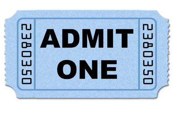 Ticket stub on white back ground isolated