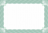 Fototapety Classic guilloche border for diploma or certificate / A4
