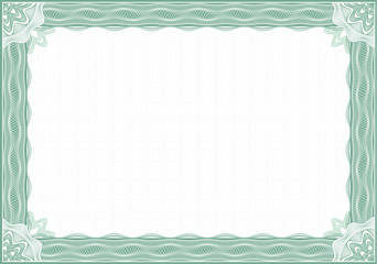 Classic guilloche border for diploma or certificate / A4