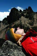 Portrait of a man on mountain Kenya