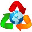 reciclar, mundo, colorido