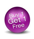 Buy 1 Gey 1 Free - magenta poster