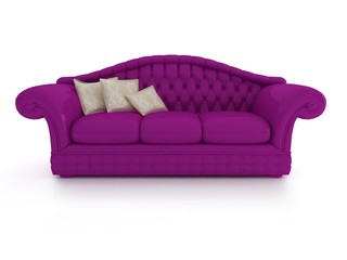 sofa on white background insulated 3d