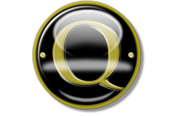 Buchstaben-Schildchen, Kolonialstil, Q