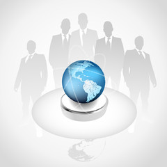 Global business Concept featureing the world of information.