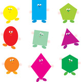 Geometrical characters poster