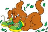 Mischievous Pup poster